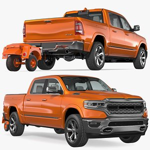 Pickup Truck with Runway Friction Tester 3D