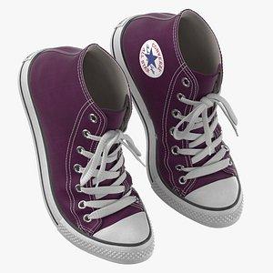3D Basketball Shoes Bent Purple