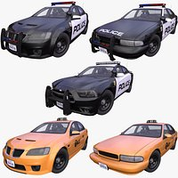 Generic USA Police and Taxi 5-models pack