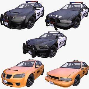 3D generic usa police taxi