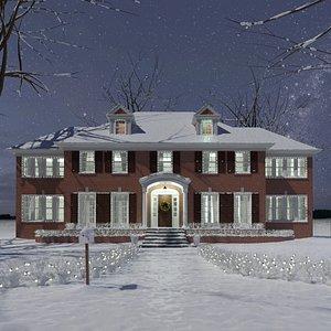 snow christmas 3D model