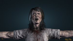 Zombie old woman 3D