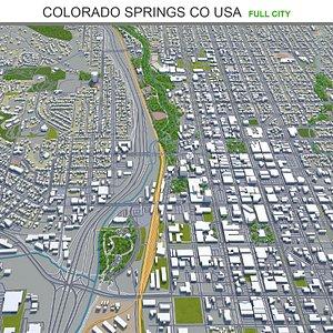 Colorado Springs CO USA 3D model