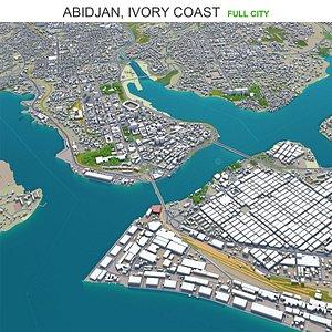 3D model Abidjan Ivory Coast