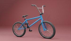3D model BMX  simple rig