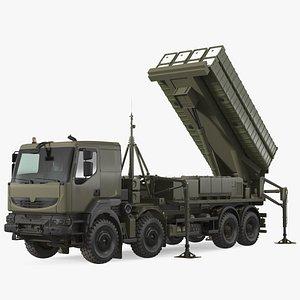 3D Mobile Medium Range Air Defense Missile System Rigged