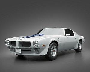 3D model 1972 Pontiac Firebird TransAm