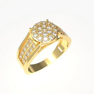 Diamant ring round shape CW 0004 3D model