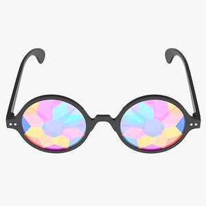 3D rainbow glasses shade sunglasses model