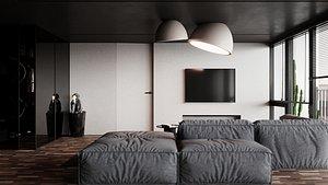 3D Kitchen livingroom model
