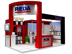 3D Booth Exhibition Stand  a459a