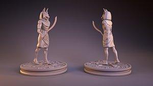 3D Anubis Sculpt model