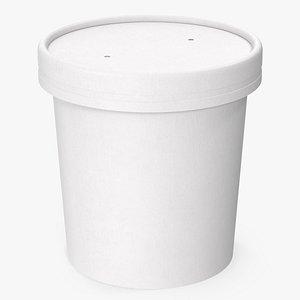 cup food paper 3D