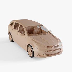3D 2016 Holden Commodore SS-V Redline Sportwagon model