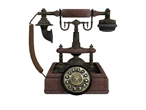 3D Vintage Telephone model