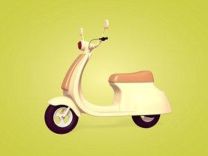 3D Cartoon Scooter model