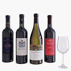 4 wine 3D model