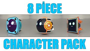 8 piece character pack model