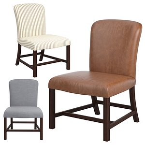 3D chippendale chair armless model