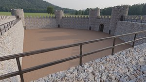 3D Medieval wall