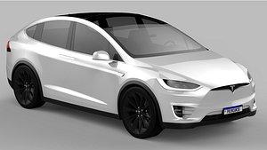 3D model Tesla Model X 2020