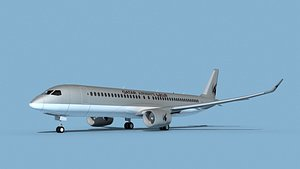 3D Airbus A220-300 Qatar