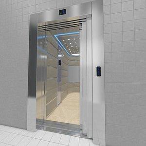 3D adjustable rigged elevator model