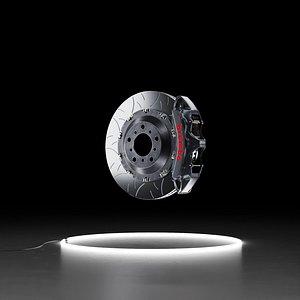 Brembo GT-S brake kit FBX 3D model