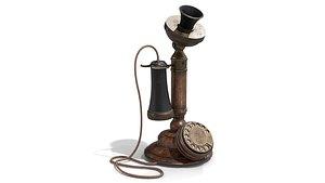 American Bell Candlestick Telephone 3D model