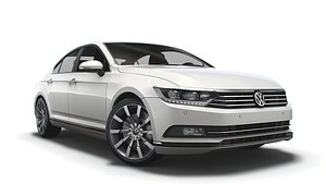 3D passat highline b8 model