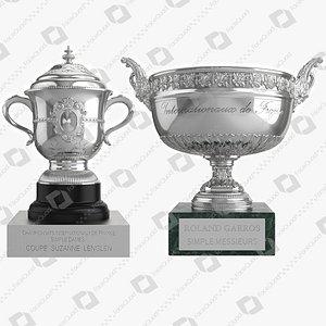 Roland Garros Trophy Collection 3D model