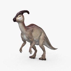 Parasaurolophus HD 3D model