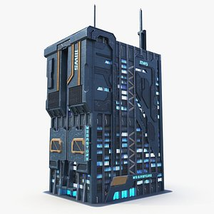 Building Sci-fi 111Ws 3D model
