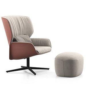 Andreu world Nuez lounge bio 2742 3D model