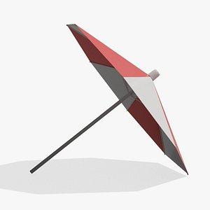 3D Lifeguard Parasol model