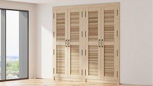 3D model Shutter Doors Cabinet