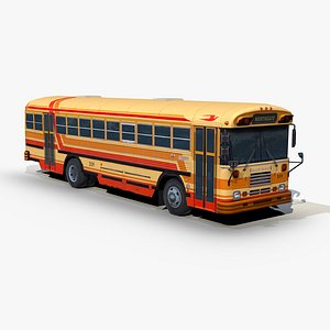 3D blue bird tc2000 transit model