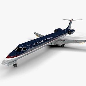 US AIRWAYS EXPRESS EMBRAER ERJ 145 L1397 3D model