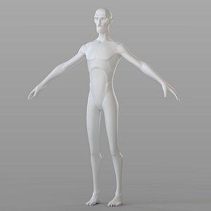 3D Stylised Male Base