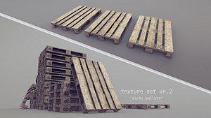 3D Cargo Wood Pallets EUR EPAL vr-2 model