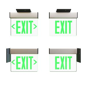 3D model led exit sign architecturally