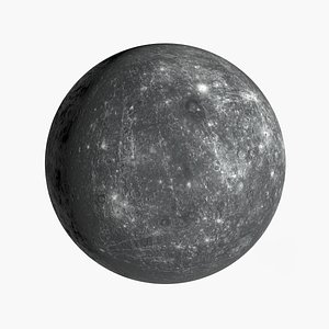 3D model realistic mercury