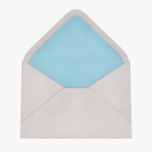 3D envelope paper mail model