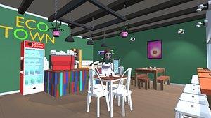 cafe 3D