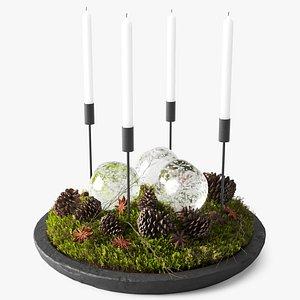 3D decor pine cones anise model