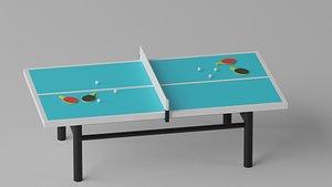 Table Tennis Ping  Pong 3D model