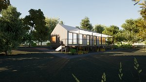 3D model Revit Modern country house 1