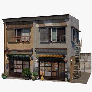 3D Japanese Tenement model