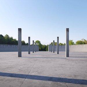 concrete architecture exterior 3D model