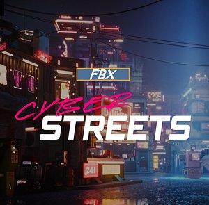 Cyberpunk Street 3D model